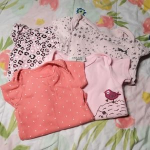 Baby girls bodysuit bundle of 4